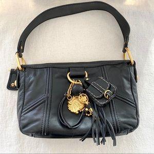 JUICY COUTURE Black Leather Shoulder Bag NWOT